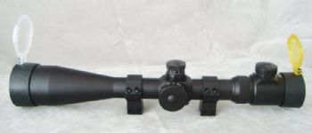 AGS 6-24x50 30mm SF Red Green IR Half MilDot Rifle Scope + Airgun Mounts + Caps + Sunshade